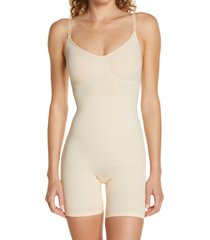 skims sculpting mid thigh bodysuit, size 4x in sand at nordstrom