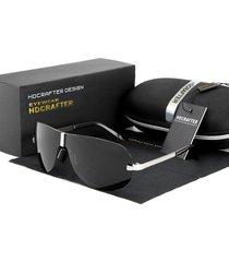 gafas lentes sol polarizados hdcrafter 8490 negro plateado