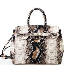 snake modello borsa a mano in ecopelle borsa per le donne