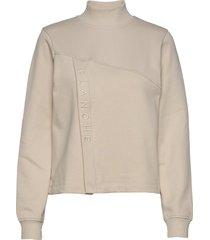 hella zip sweat-shirt trui crème blanche