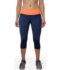 leggings corto deportivo mujer tykhe leda azul marino