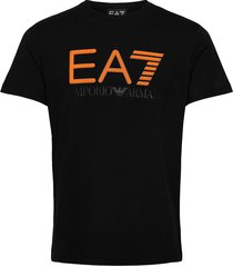 t-shirt t-shirts short-sleeved svart ea7