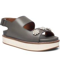 vacchetta shoes summer shoes flat sandals silver ganni