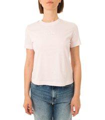 calvin klein t-shirt donna monogram logo tee j20j215497.tn9