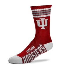 for bare feet indiana hoosiers youth 4 stripe deuce crew socks