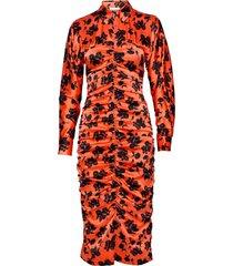 silk stretch satin dresses bodycon dresses orange ganni