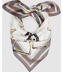 reiss twiggy - printed silk scarf in multi, womens