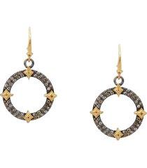armenta drop hoop earrings in silver at nordstrom