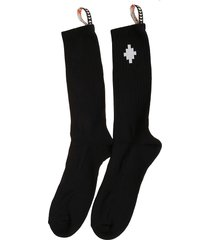marcelo burlon socks cross side tape midhigh