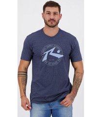 camiseta rusty silk horizon marinho mescla - masculino