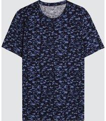 camiseta para hombre camuflado color azul, talla l