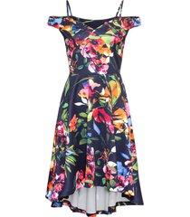 abito a fiori con spalle scoperte (blu) - bodyflirt boutique