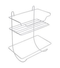 prateleira com suporte para rolo de papel chrome