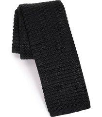 men's the tie bar knit silk tie, size regular - black
