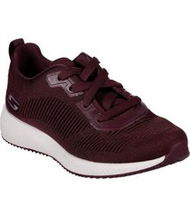 zapatos mujer  bobs squad - total glam burdeo skechers
