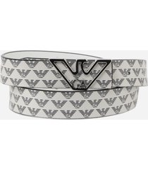 belt with all-over monogram print