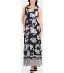 ny collection printed wrap dress