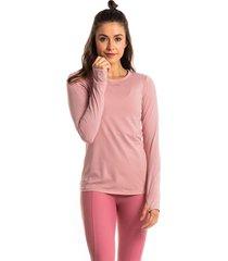 camiseta pink manga longa