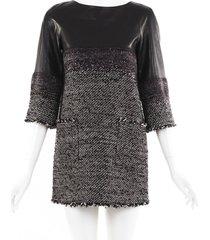 chanel lambskin tweed mini dress