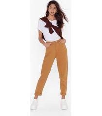 womens mustard high-waisted mom denim jeans