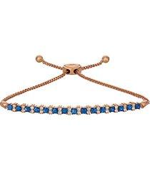 14k strawberry gold®, blueberry sapphire™ & vanilla diamonds® bolo bracelet