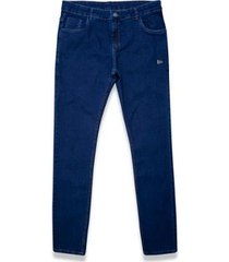 calça jeans escura new era masculina