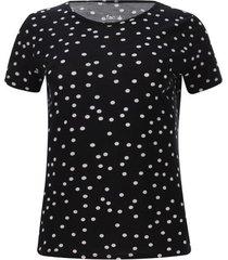camiseta mujer m/c lunares color negro, talla m