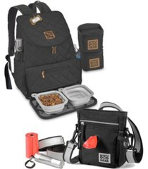 mobile dog gear bundle - day and night walking weekender backpack set, 8 piece