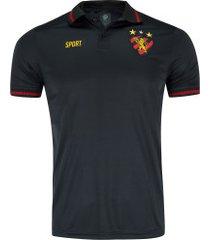 camisa polo do sport recife 19 - masculina - preto