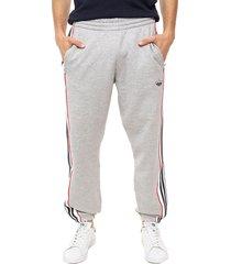 pantalón gris adidas originals 3 stripe panel