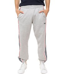 pantalón gris adidas originals 3 stripe panel