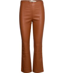 cedar pant leather leggings/broek bruin inwear