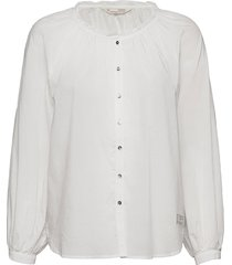 anna blouse blus långärmad vit odd molly