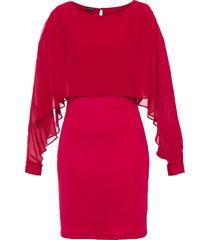 abito con mantella di chiffon (rosso) - bodyflirt