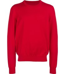 maison margiela contrast elbow-patch sweatshirt - red