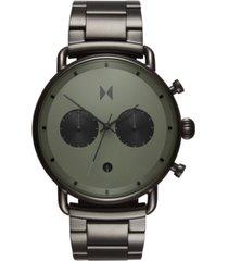 mvmt chronograph blacktop rallye green gunmetal stainless steel bracelet watch 47mm