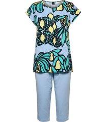ladies pyjamas, samba pyjamas blå nanso
