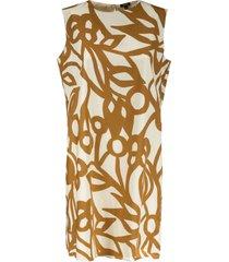 aspesi sleeveless printed short dress