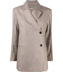 12 storeez asymmetric longline blazer - neutrals