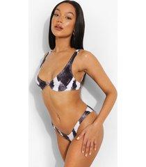 abstracte bikini top met beugel, mono
