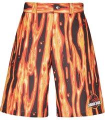 gcds jurassic lava print shorts