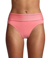 pleated-waist bikini bottom