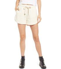women's allsaints lila tie waist shorts, size 10 us - white