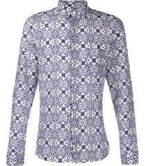 peninsula swimwear sperlonga var.3 printed shirt - white