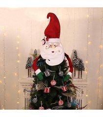 decoración del árbol de navidad primeros ornamento de navidad colgante de zapatos de santa muñeco de nieve del sombrero - chile rojo