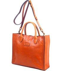 old trend leaf leather tote bag