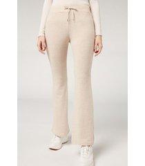 calzedonia comfort flare leggings woman ivory size xs