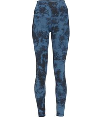 dyi women's printed signature yoga leggings - chambray tie dye x-small spandex