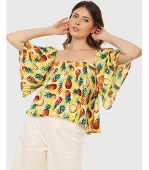 blusa amarillo-blanco-naranja-verde paris district