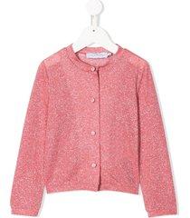 le gemelline by feleppa lurex glitter cardigan - pink